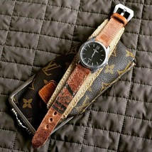 Handmade Swiss Ammo Leather Watch Strap watchband vintage military hipst... - $193.05