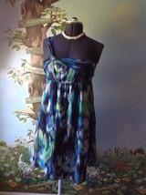 Ann Taylor Loft Women's Blue  Multi-color Women One Shoulder Dress Size 10 - $29.65