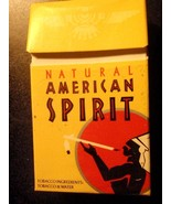 CIGARETTE BOX EMPTY PACK USA AMERICAN SPIRIT with Virginia tax label stamp - $2.61