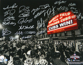 2016 CUBS Team Signed World Series Marquee 16x20 Photo (23 Signatures)- ... - $3,563.01