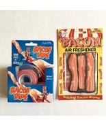 Bacon Lover's Gift Air Freshener & Bacon Tape Gag Kitsch Archie McPhee 2... - €10,88 EUR