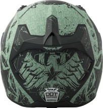 L Fly Racing Revolt Liberator Motorcycle Helmet Matte Black/Green DOT & Snell image 2