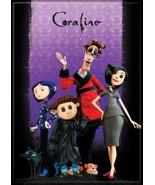 Coraline Animated Movie Family Portrait on Purple Refrigerator Magnet NE... - $3.99