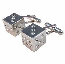 Silver Dice Gambling Casino Cuff Links - $10.77