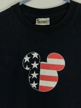 Walt Disney World Patriotic Mickey Mouse Navy Blue T-Shirt Men's Size XL - $14.81