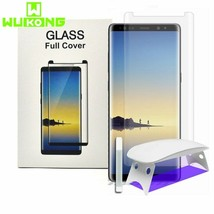 UV Full Glue Screen Protector Samsung Note 8 S8 S9 Plus Note9 S10 Tempered Glass - $26.80+