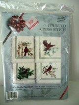 Something Special Cardinal Bird Placemats Cross Stitch Kit Factory Sealed 1990 - $24.90