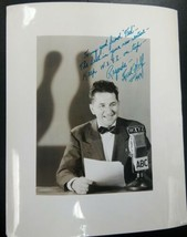 DETROIT WXYZ RADIO BROADCAST LEGEND FRED WOLF-Signed & Inscribed 1949 Ph... - $34.65