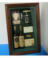 "Bartending Theme 3D Picture Wooden Shadow Box Corkscrew Bottles 8.5""W x ... - $24.75"