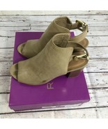 Rampage Twixie Women Open-Toe Synthetic Taupe Slingback Heel - Size 8 - $17.45