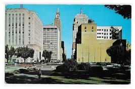 OK Oklahoma City Looking East on Park Street Vintage Postcard Posted 1960 - $4.99