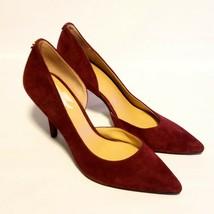 Michael Kors Womens Sz 8 Red Velvet Suede Pointed Toe Pumps - $44.99