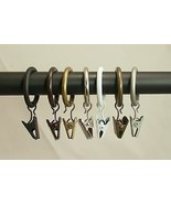 "Metal Curtain Drapery Clip Rings 1"" Inner Diameter,Fit Up To 3/4"" Rod, S... - $20.99"