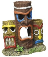 Blue Ribbon Pet Products Exotic Environments 3 Piece Tiki Head Statue Aq... - $16.85