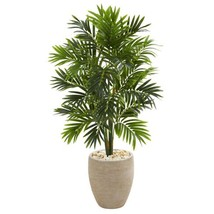 Indoor 4 ft. Areca Artificial Palm Tree in Sand Colored Planter - $166.13