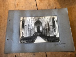 ANTIQUE/VINTAGE PHOTO OF THE NAVE AT EXETER CATHEDRAL (ENGLAND) A4-SIZED - $6.36