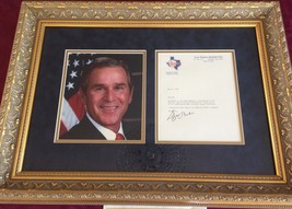 TEXAS RANGER BASEBALL CLUB LETTERHEAD SIGNED BY GEORGE W. BUSH AUTOGRAPH - $1,657.00