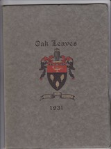 1931 Vassalboro Oak Leaves Girls High School YearBook, Vassalboro, Maine - $28.71