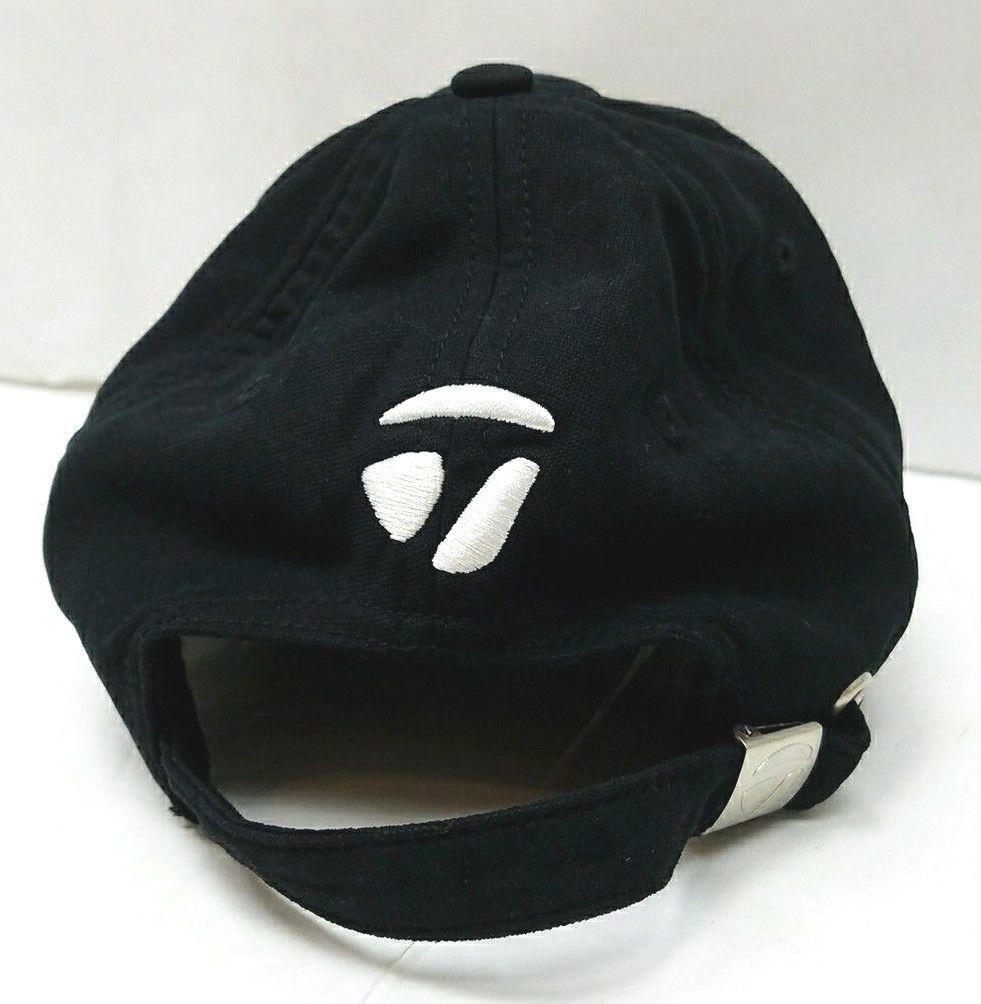 TaylorMade Tmax Gear Burner Black   White Adjustable Golf Hat Cap 4902e06bb2a2