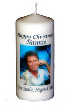 Cliff Richard Christmas Candle  personalised gift present | # 8 - $16.80