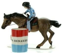 Hagen Renaker Specialty Horse Rodeo Barrel Racer Ceramic Figurine image 1