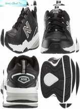 New Balance Men's 608v1 Casual Comfort Cross Trainer 10.5 Wide, Black/White - $77.20