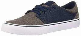 DC Men's Trase TX SE Skate Shoe, Navy/Dark Chocolate, 13 Medium US