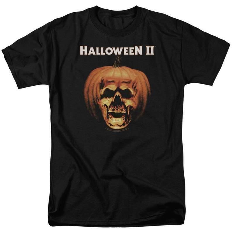 Halloween II t-shirt Pumpkin shell Retro 80s horror classic graphic tee UNI321