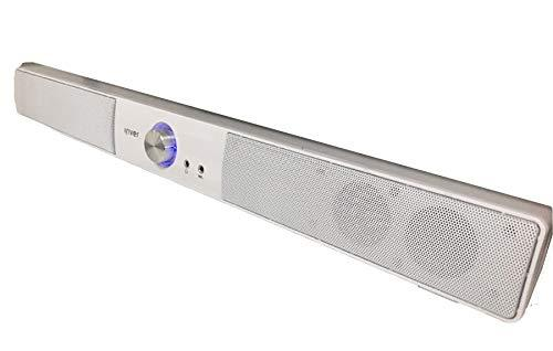 iRiver IBS-400 USB Powered Computer PC Speaker Wired Sound Bar 2Ch (White)