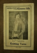 Kimmo Silk Knitting Yarn Instructions 1930 Sweaters Ties Toddler Vintage... - $9.49
