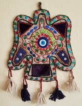 Vintage Evil Eye Amulet Wall Hanging Wool Felt Home Decoration Lucky Pro... - $46.39