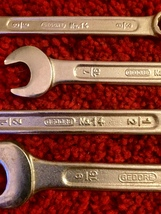 Vintage Gedore NO14 5 pc wrench set - like new image 4