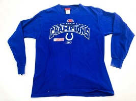 Indianapolis Colts Long Sleeve Reebok T-shirt Size Medium 2004 AFC South Champs - $14.30