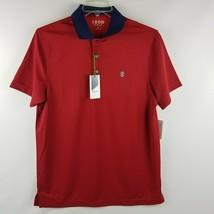 IZOD Men Performance Golf Polish Red Short Sleeve Polo Shirt Size M MSRP... - $39.95