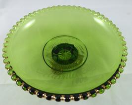 "Antique ""ATLANTIC CITY 1903"" GREEN /GOLD PATTERN Glass Souvenir G26 - $4.95"