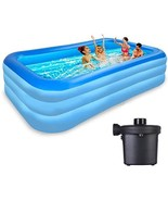 Above Ground Pool Inflatable Swimming - Outdoor Inflatable Kiddie Pools - $82.00