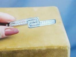Stunning Sterling David Sigal Channel Set CZ Hinged Bangle Bracelet In B... - $79.99