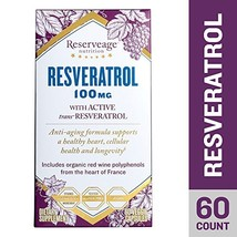 Reserveage - Resveratrol 100mg, Antioxidant Support for a Healthy Heart ... - $25.33