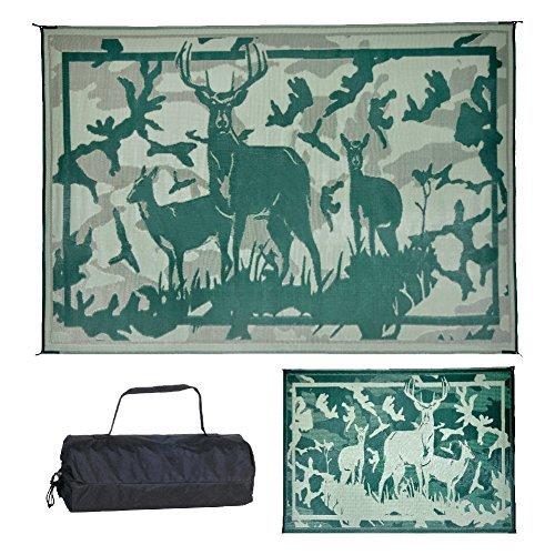 Ming's Mark Inc. Desert Green 8'x11' HC8114 Mat Camo Deer 8 X 11