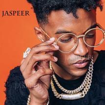 JASPEER Round Rhinestone Sunglasses Men Women Luxury Brand Designer Plastic Fram image 2