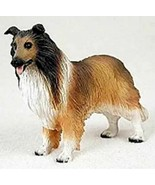 COLLIE DOG SABLE Figurine Statue Hand Painted Resin  - $19.99