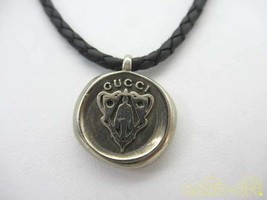 Gucci Crest Choker Necklace Razor Sv925 F/S From JP - $392.65