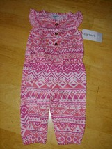 Carter's Baby Girl PINK/WHITE 1-PC SUIT-NB-NWT-COTTON/VISCOSE-CUTE/SOFT/COMFY - $4.94