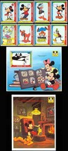 NEVIS DISNEY'S MICKEY'S PORTRAIT GALLERY SET/8 & 2 S/S - $17.99