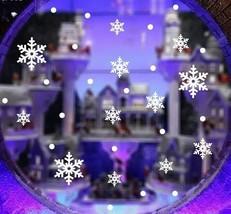 28  Snowflakes Stickers Christmas Decoration Xmas Window Art Vinyl Self ... - $10.18