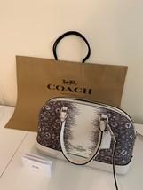 New COACH Lizard Leather Mini Sierra Satchel Crossbody Bag in WHITE CHALK - £227.87 GBP