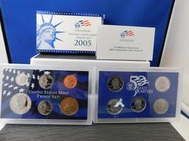 2005 UNITED STATES MINT PROOF SET BLUE BOX WITH COA - $25.00