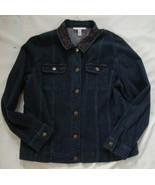 JM Collection BEADED denim Stretch Jean Jacket sz 14 - $8.99