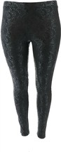 Women with Control Embossed Ponte Royale Leggings Black M NEW A372064 - $30.67