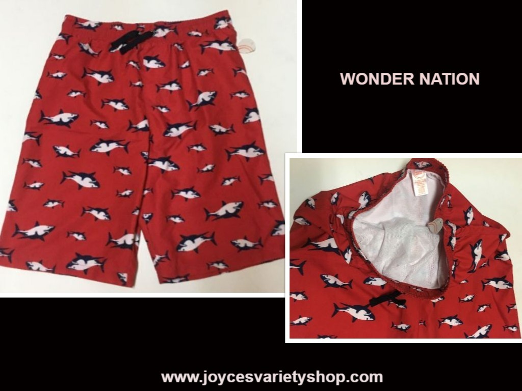 Wonder nation red dolphin swimsuit web collage